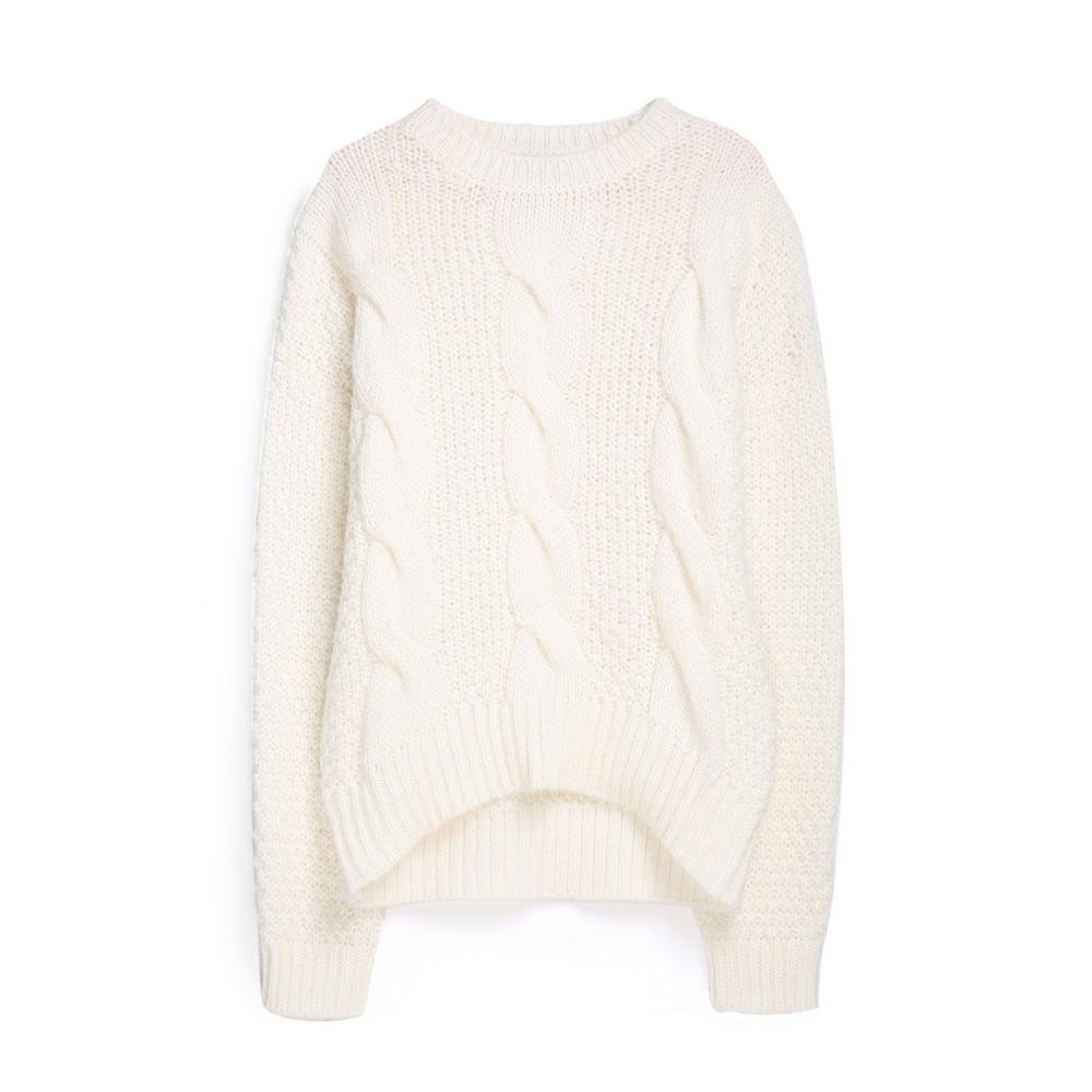 42b884f8ee7 Cream Cable Knit Jumper | Jumpers & Sweaters | Jumpers & Sweaters ...