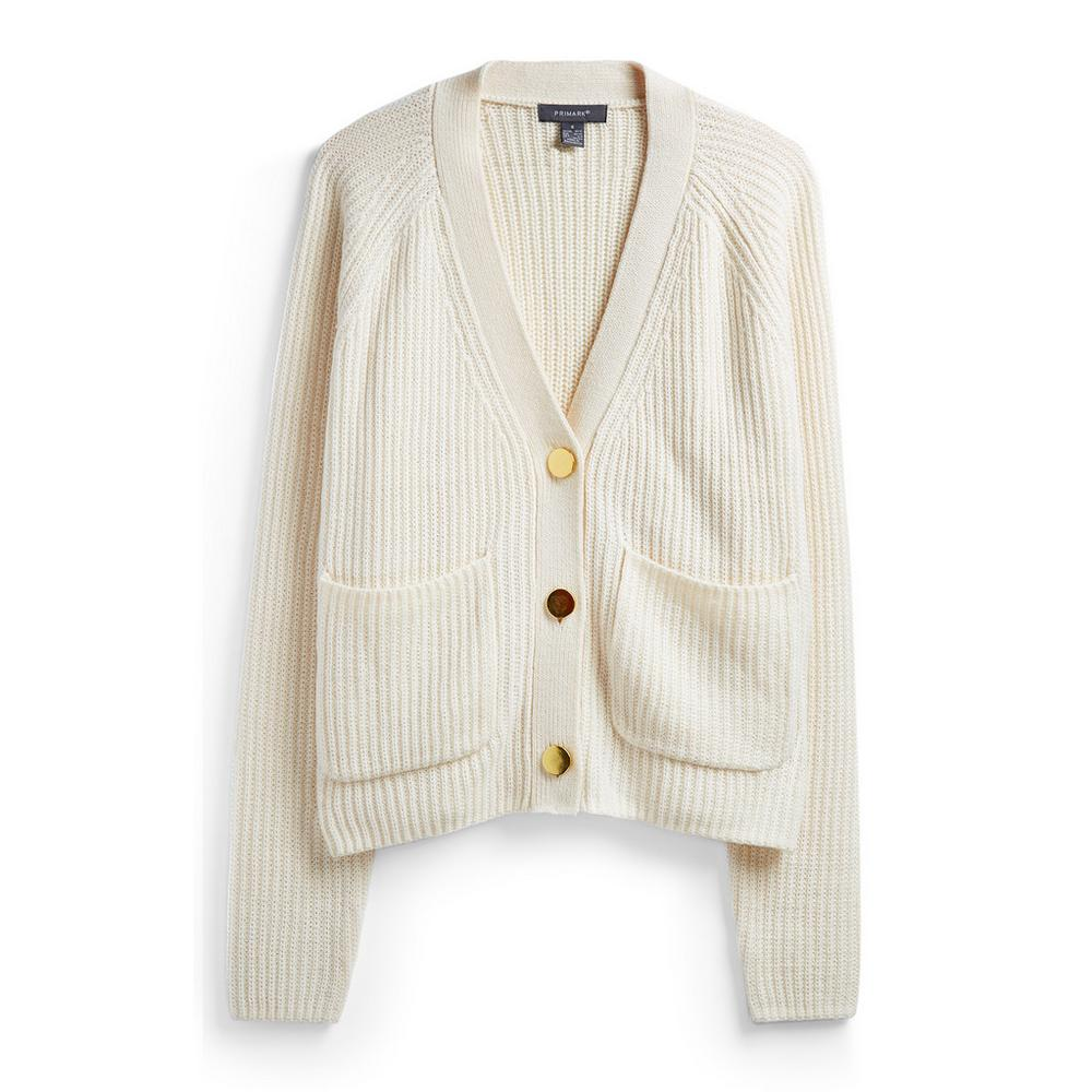 ivory-button-down-jumper by primark