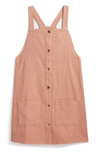Older Girl Blush Pinafore Dress