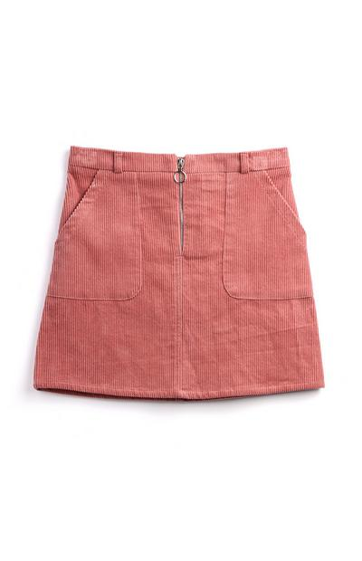 Older Girl Zip Blush Skirt