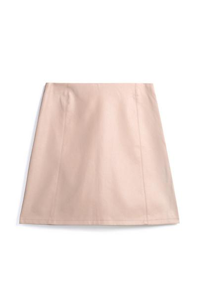 Taupe Mini Skirt