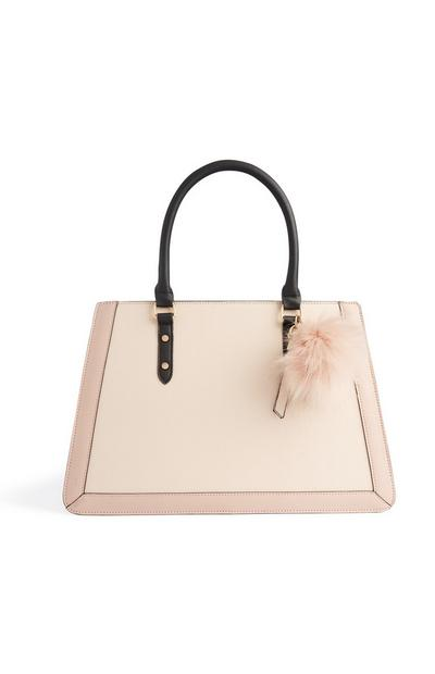 Nude Structured Tote