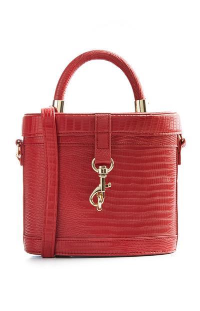 Red Vanity Case Boxy Bag