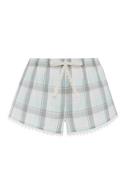 Check Pyjama Short
