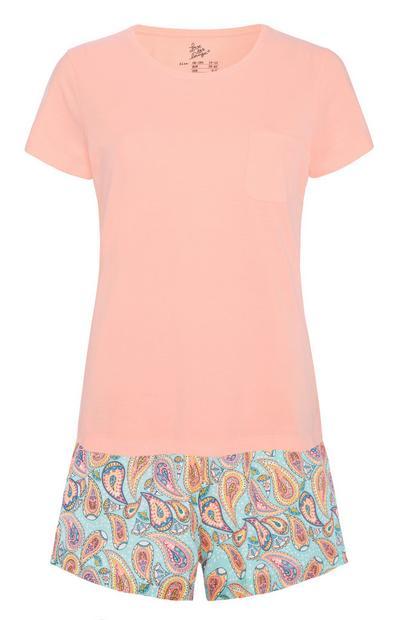 Pink Paisley Pyjama Set