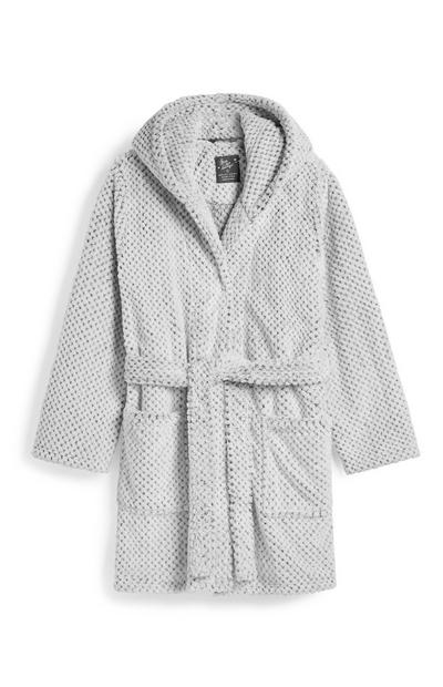 Grey Two Tone Dressing Gown