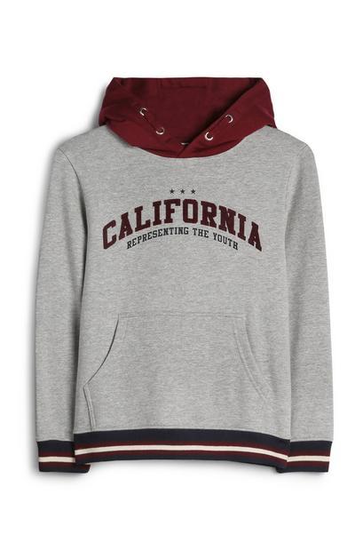 Older Boy Grey California Hoodie