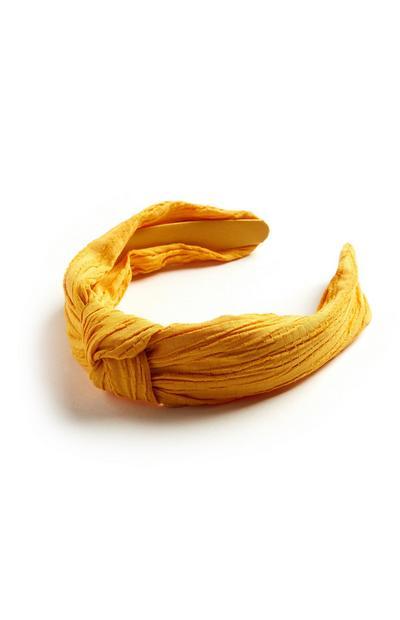 Gelber Haarreif mit Zierknoten