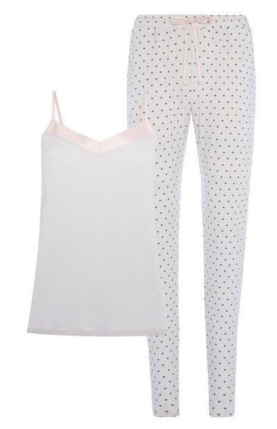 White Pyjamas 2Pc