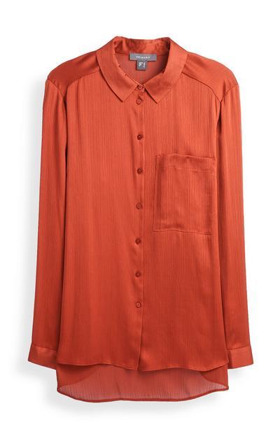 Tan Satin Shirt