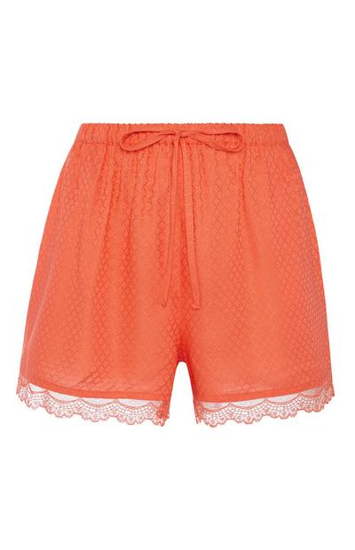 Orange Lace Pyjama Short