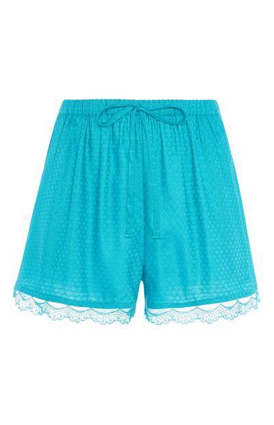 Teal Pyjama Short