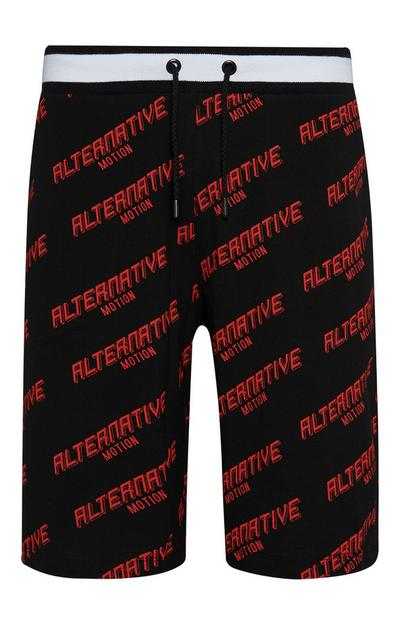 Black Alternative Motion Shorts