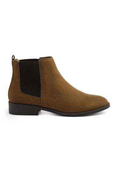 Olive Chelsea Boot