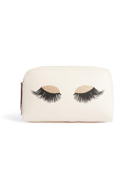 Make-up-Tasche mit Wimpern-Aufdruck