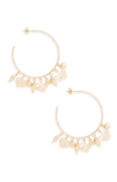 Sea Charm Hoop Earrings
