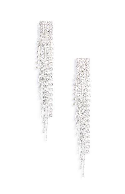 Diamonte Chain Earring