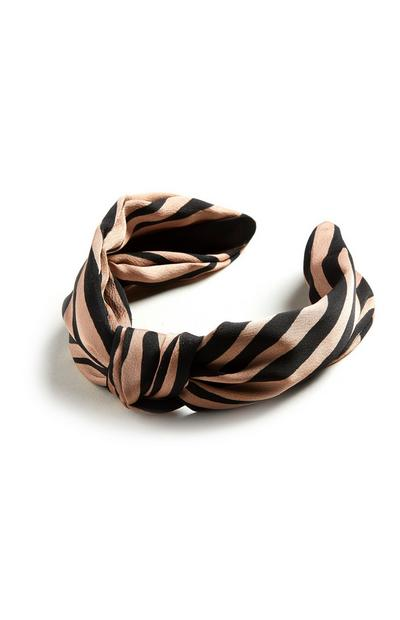 Striped Front Knot Headband