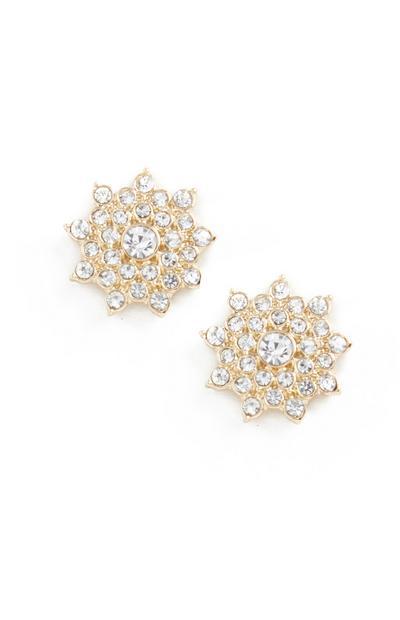 Diamante Cluster Stud Earrings