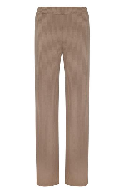 Brown Ribbed Lounge Trouser