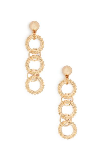 Circle Chain Drop Earrings