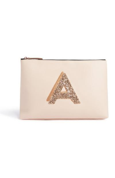 Glitter Initial Toiletry Bag