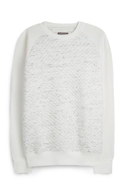 White Textured Jumper