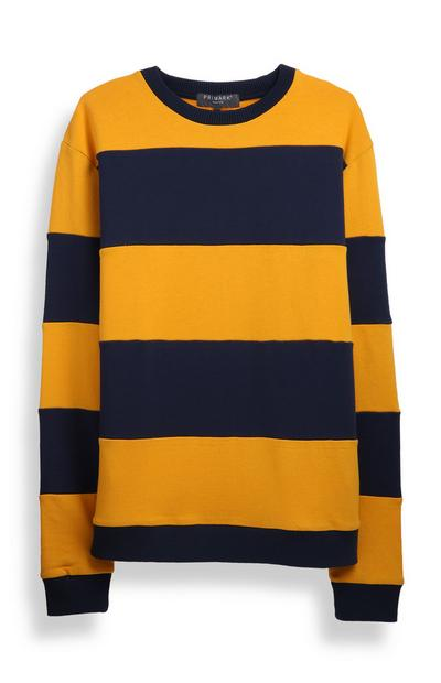 Mustard And Navy Stripe Sweatshirt