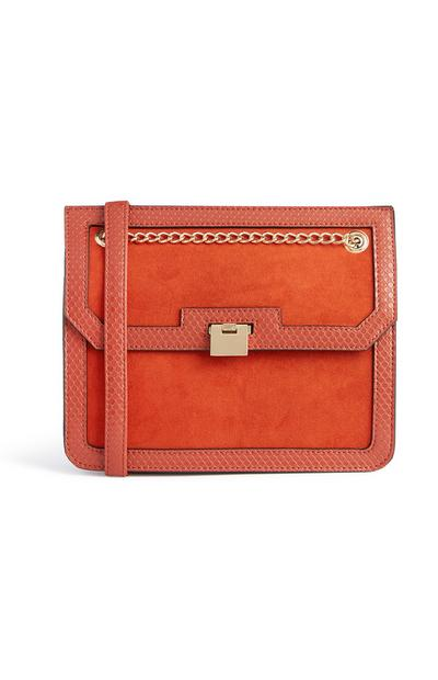 Orange Chain Crossbody