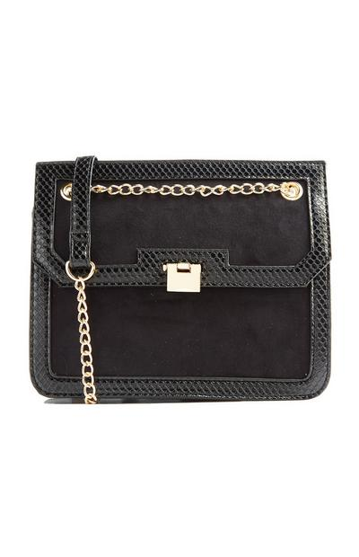 Black Chain Crossbody Bag