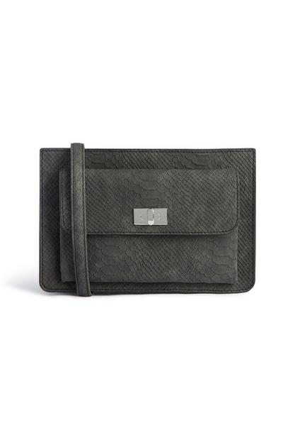 Black Snake Texture Crossbody