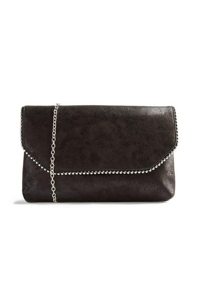 Black Ball Edge Clutch Bag