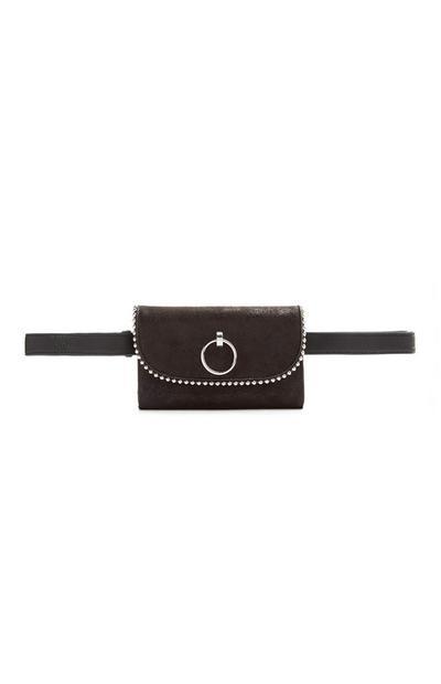Black Ball Edge Belt Bag