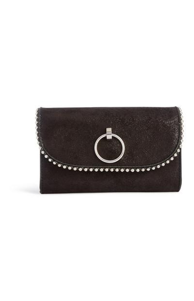 Black Ring Clutch Bag