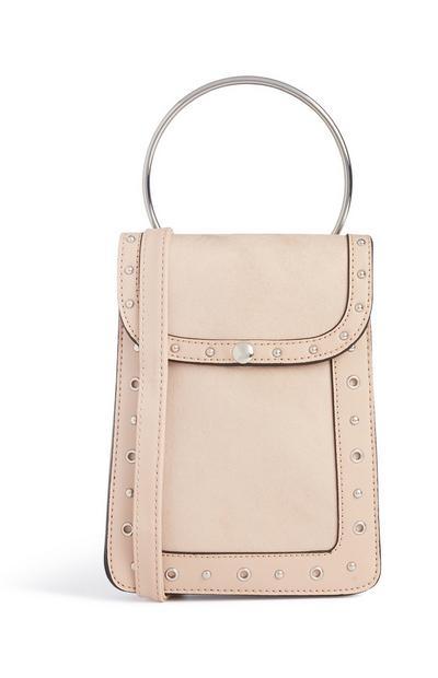 Cream Ring Handle Bag