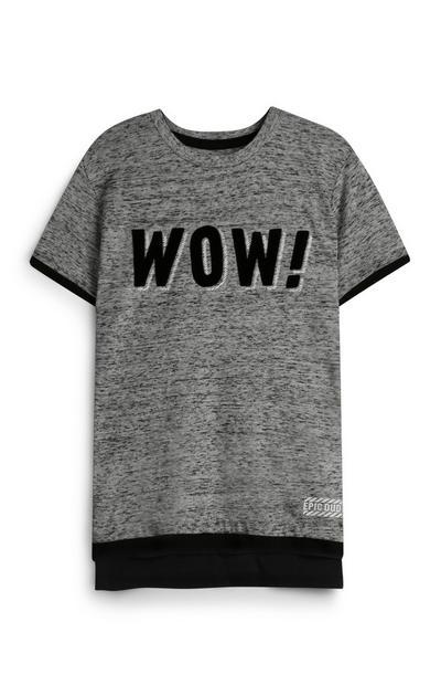 Younger Boy Grey T-Shirt