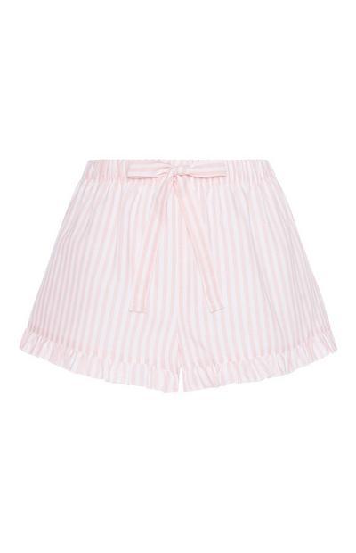 Pink Stripe Pyjama Short