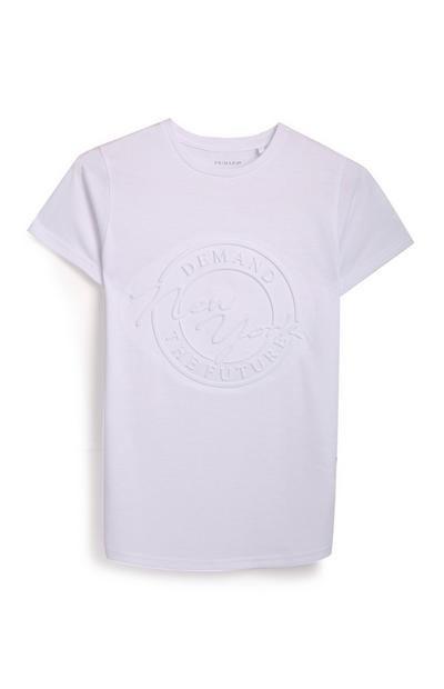 Older Boy Purple T-Shirt