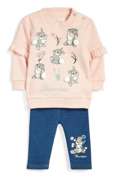 Baby Girl Thumper Outfit 2Pc