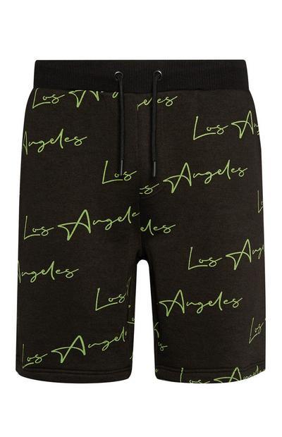 Black Neon LA Shorts