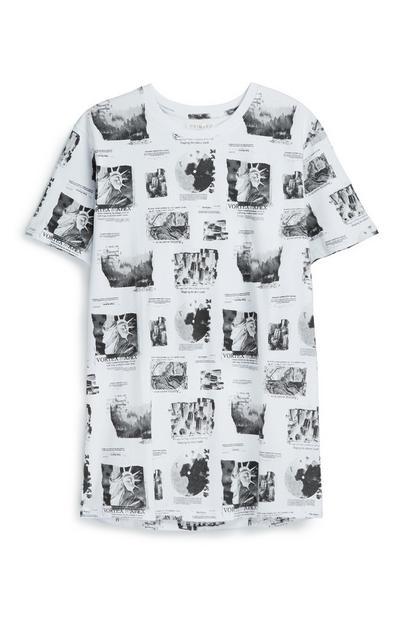 White Photographic T-Shirt