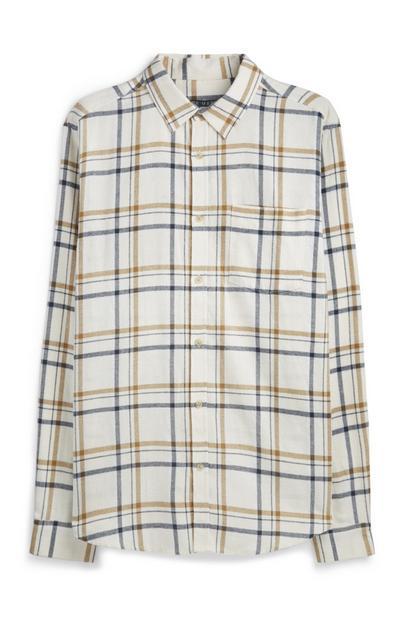 Oatmeal Check Flannel Shirt