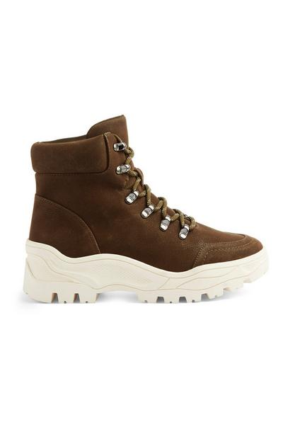 Brown Chunky Boot