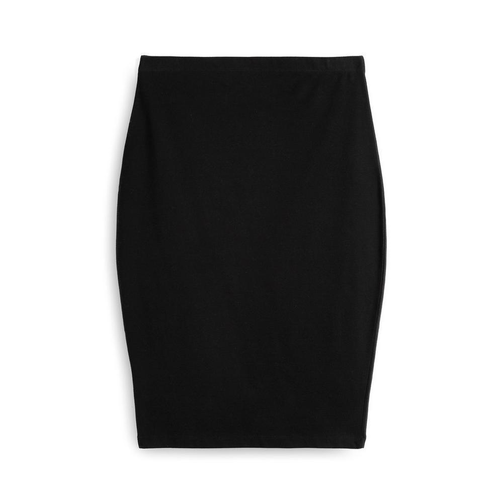 Black Jersey Midi Skirt by Primark