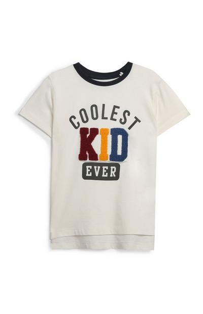 Younger Boy Slogan T-Shirt