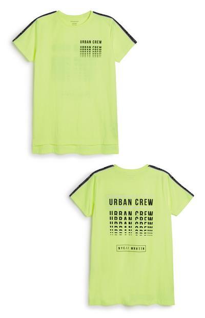 Older Boy Neon Slogan T-Shirt