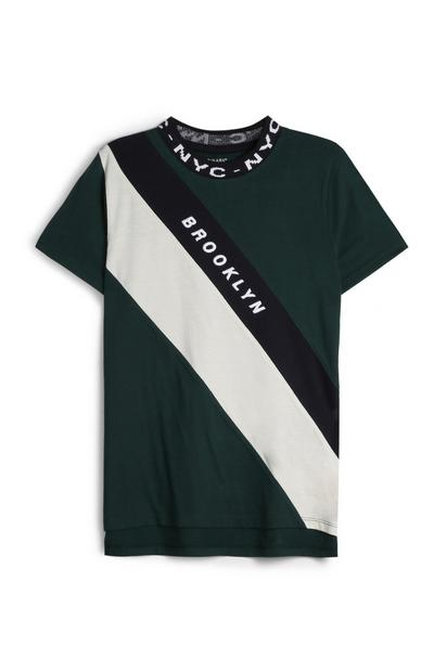 Older Boy Green T-Shirt