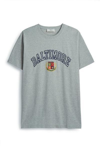 Grey Baltimore Crest T-Shirt