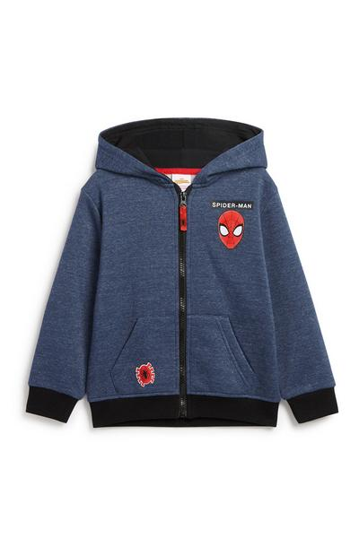 Younger Boy Spiderman Zip Hoodie