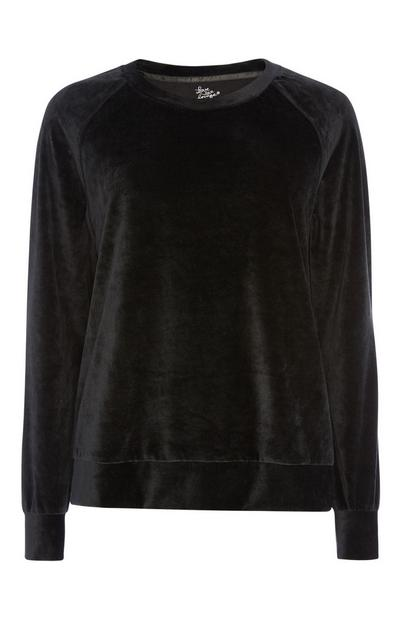 Black Velour Lounge Top